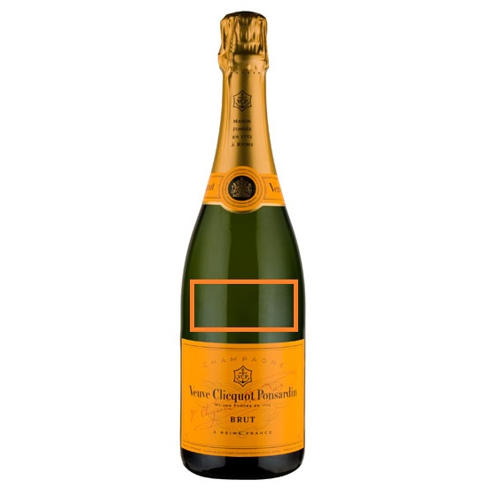 Veuve Clicquot Yellow Label Champagne Graveren / Personaliseren